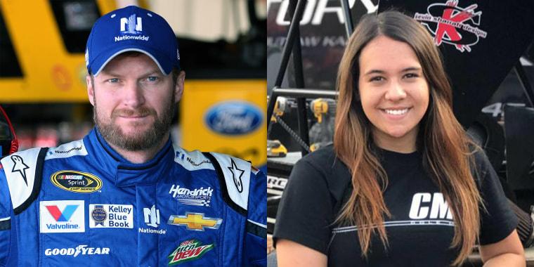 7915747b1 Dale Earnhardt Jr.'s teenage niece 'shaken up' after scary car race ...