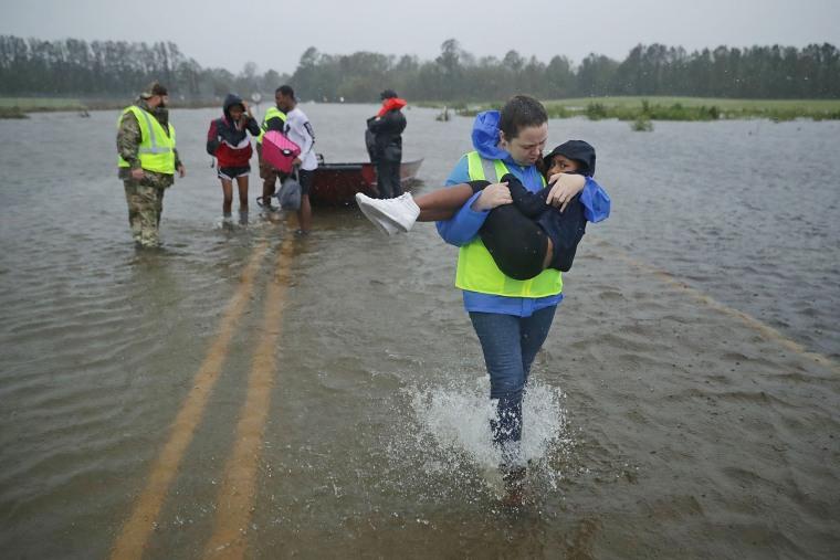 Image: Hurricane Florence Slams Into Coast Of Carolinas