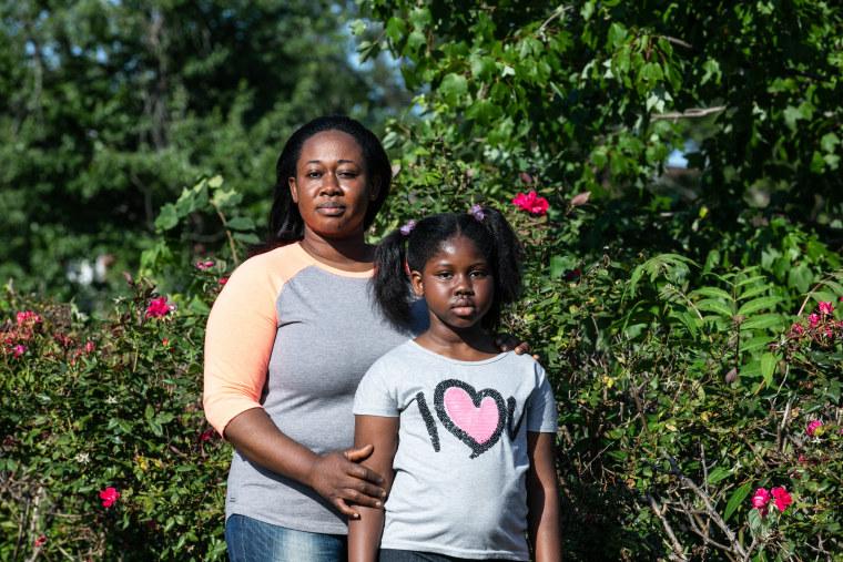 Brigita Asiedu and Nhyira Appiah at Rowley Park in East Orange.