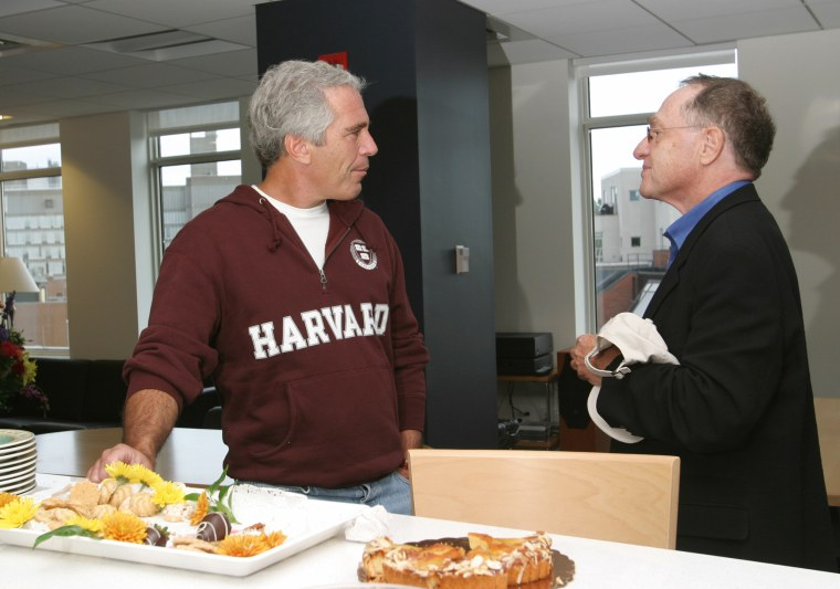 Jeffrey Epstein with Professor Alan Dershowitz