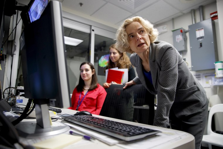 Image: Dr. Nora Volkow, director of the National Institute on Drug Abuse, works in an MRI lab at the institute's research hospital in Bethesda, Maryland, on May 16, 2019.