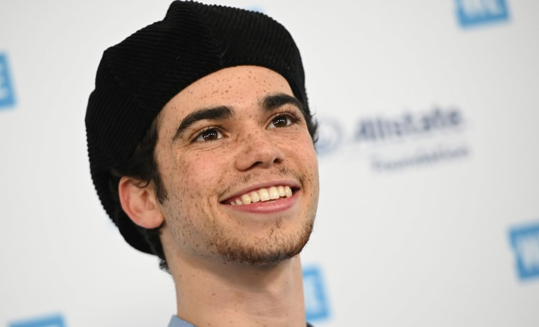 Image: Actor Cameron Boyce arrives for WE Day California at the Forum in Inglewood, California