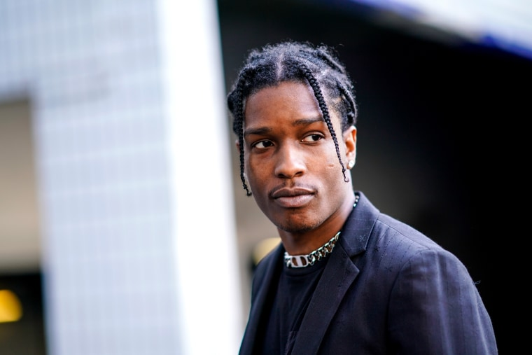 Image: ASAP Rocky in Paris on June 24, 2018.