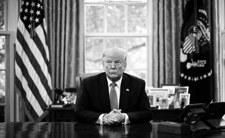 Image: President Donald Trump in the Oval Office on June 25, 2019.