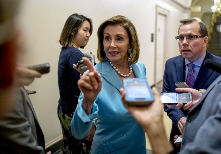 Image: Speaker of the House Nancy Pelosi speaks to reporters on Capitol Hill on July 10, 2019.