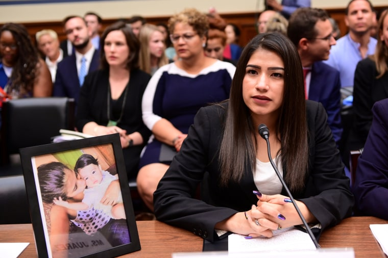 Image: Juarez testifies before a House Oversight Subcommittee on Civil Rights and Human Services in Washington