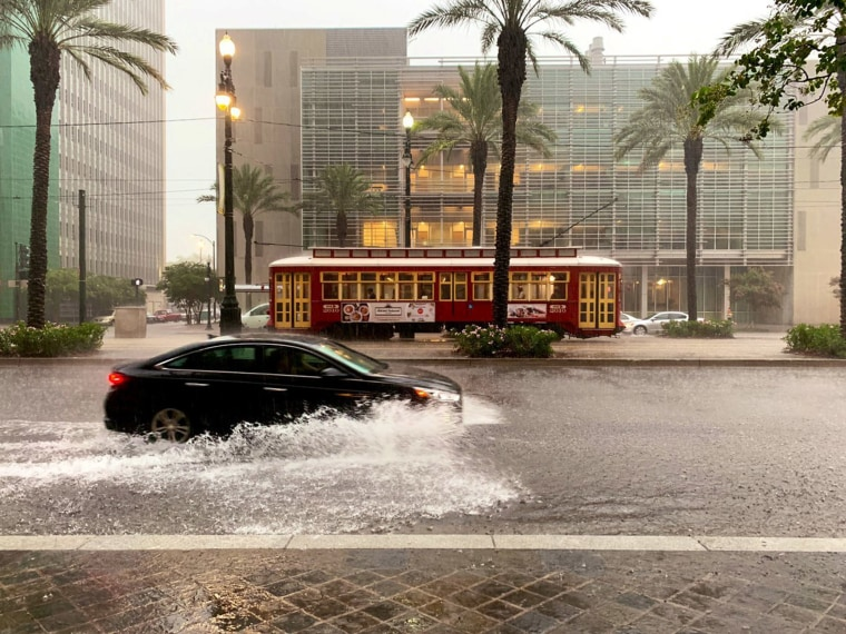 Image: A flooded area is seen in New Orleans