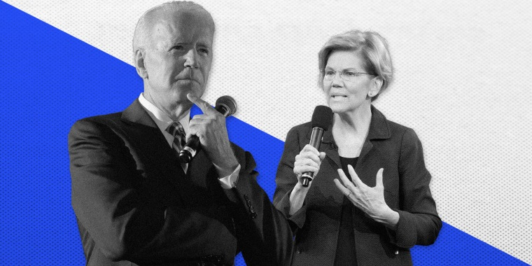 Joe Biden and Elizabeth Warren.