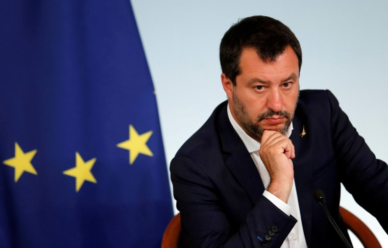 Image: FILE PHOTO: Italian PM Conte and Deputy PM Salvini hold a joint news conference in Rome