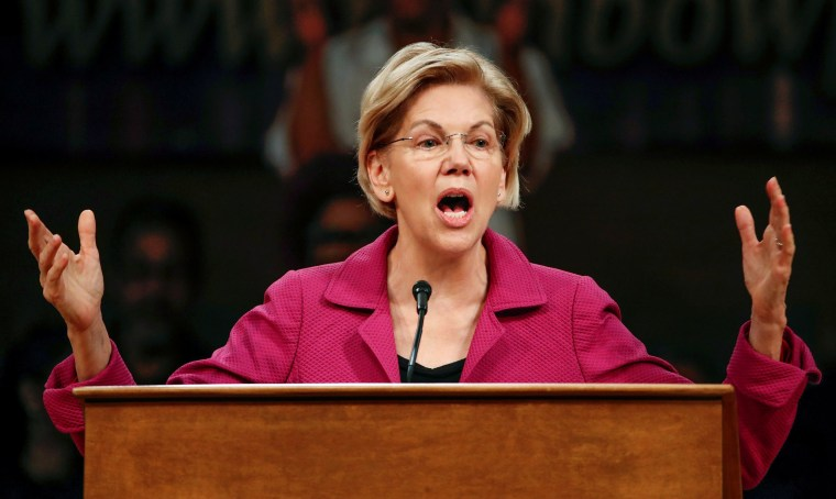 Image: Democratic 2020 U.S. presidential candidate Elizabeth Warren speaks at the Rainbow PUSH broadcast and community forum in Chicago