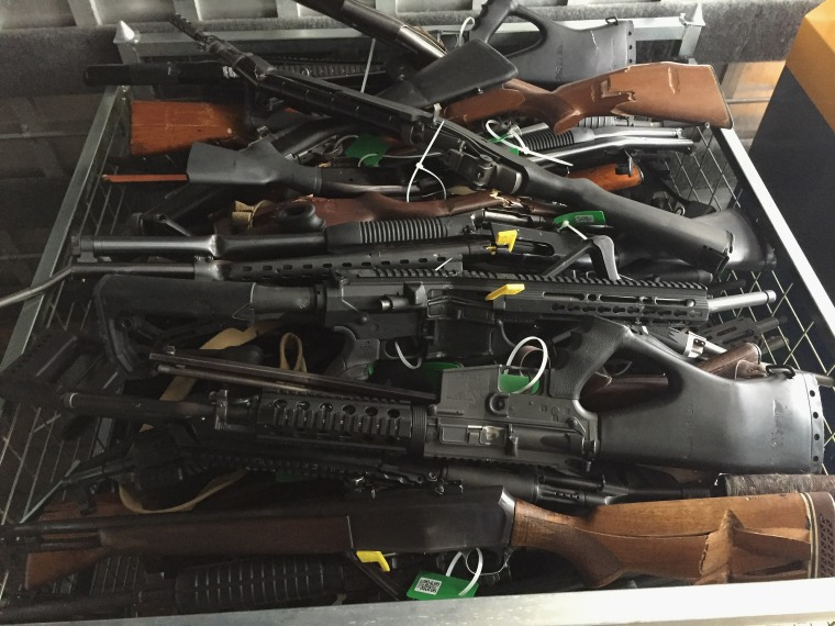 Image: New Zealanders Surrender Firearms As Gun Buy Back Scheme Begins