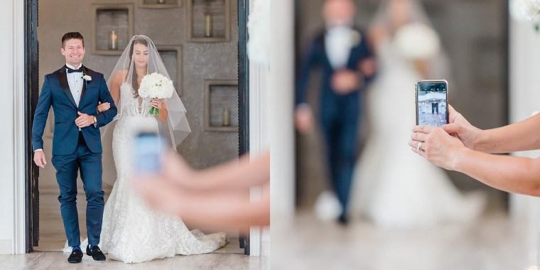 A photographer's split image shows how smartphones ruin wedding photography.