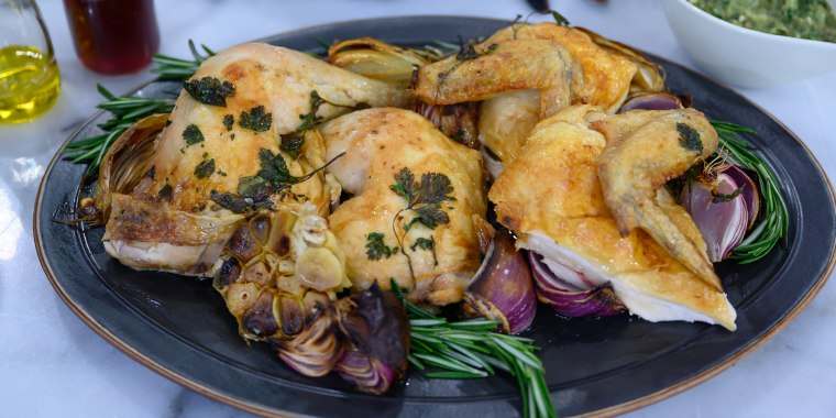 Laura Vitale's Roasted Chicken + Buffalo Chicken Flatbread + Leftover Carnitas