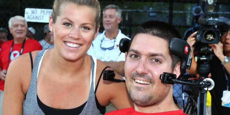 Julie and Pete Frates, who inspired millions to donate more than $115 million for ALS research.