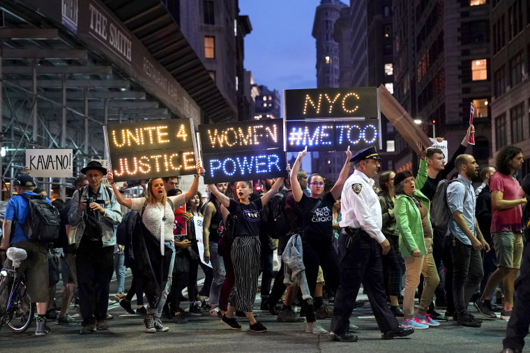 Image: Protestors Demonstrate Against Supreme Court Nominee Brett Kavanaugh In New York