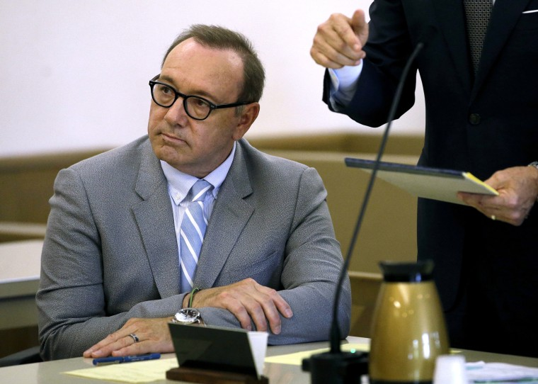 Image: Kevin Spacey attends a pre-trial hearing in Nantucket, Massachusetts