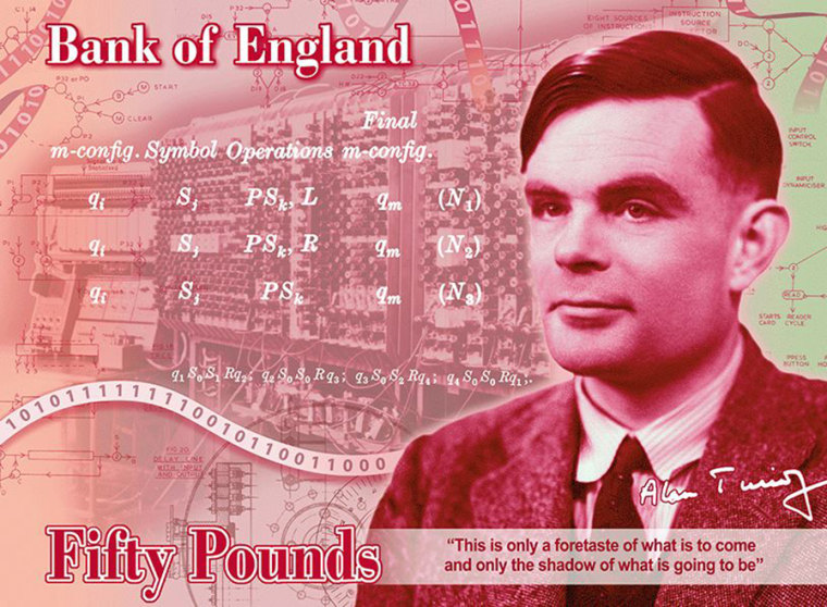 Image: British mathematician Alan Turing will be on the new 50 pound note.