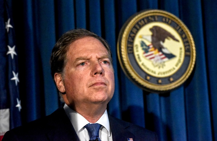Image: U.S. Attorney for the Southern District of New York Geoffrey Berman at a press conference in Manhattan on July 8, 2019.