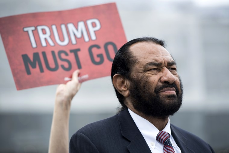 Image: Rep. Al Green, D-Texas, at a coalition event in Washington on May 9, 2019.