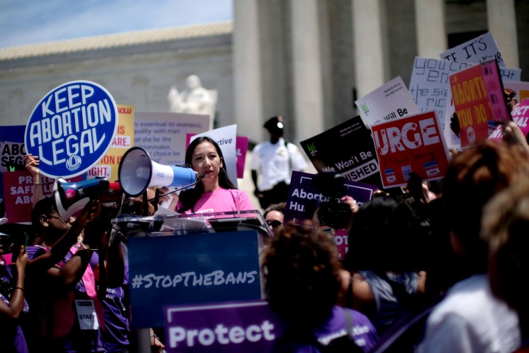 Image: Planned Parenthood president Dr. Leana Wen speaks at a protest outside of the Supreme Court on May 21, 2019.