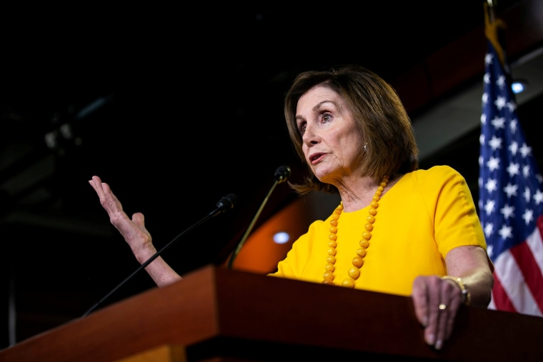 Image: FILE PHOTO: U.S. House Speaker Nancy Pelosi (D-CA) holds her weekly news conference on Capitol Hill