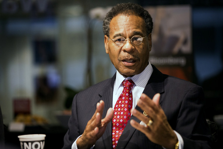 Image: Rep. Emanuel Cleaver, D-Mo., speaks during an interview in Washington on March 25, 2015.