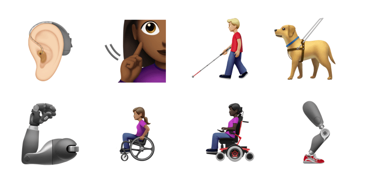 Image: Apple has introduced disability emojis to be released in Fall 2019.