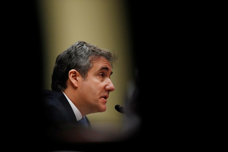Michael Cohen testifies before a House Committee on Oversight and Reform hearing