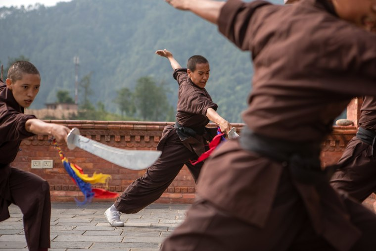 """The Kung Fu Nuns of the Drukpa Order know that if they cannot defend themselves, they cannot defend others. Vulnerable girls are armed not just with physical moves, but an education on how an equal society works. \""""Every girl has a dream; every girl has an aim. We just want to help them find courage.\"""" Although the focus is on female empowerment, that doesn't mean the nuns want all of the power to be with women, for, \""""Until there is equality there will be no harmony, for girls or boys.\"""""""