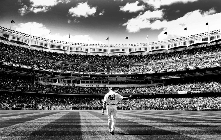 Image: Yankees player Mariano Rivera walks out of the bullpen before a game against the San Francisco Giants at Yankee Stadium in New York on Sept. 22, 2013.