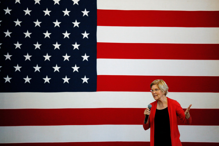 Image: Democratic 2020 U.S. presidential candidate Sen. Elizabeth Warren speaks during a town hall at the Peterborough Town House in Peterborough New Hampshire
