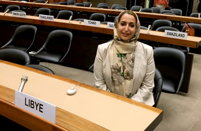 Image: Seham Sergiwa, an elected official to the U.N.-backed government in Libya, was kidnapped by a suspected militia group in Benghazi on July 17, 2019.