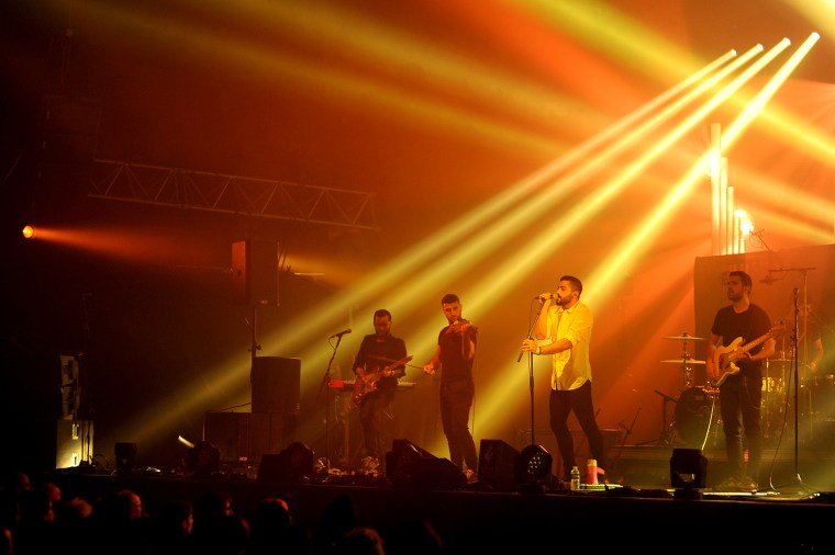 Image: Mashrou' Leila performs at a music festival in Bourges, France, on April 26, 2015.
