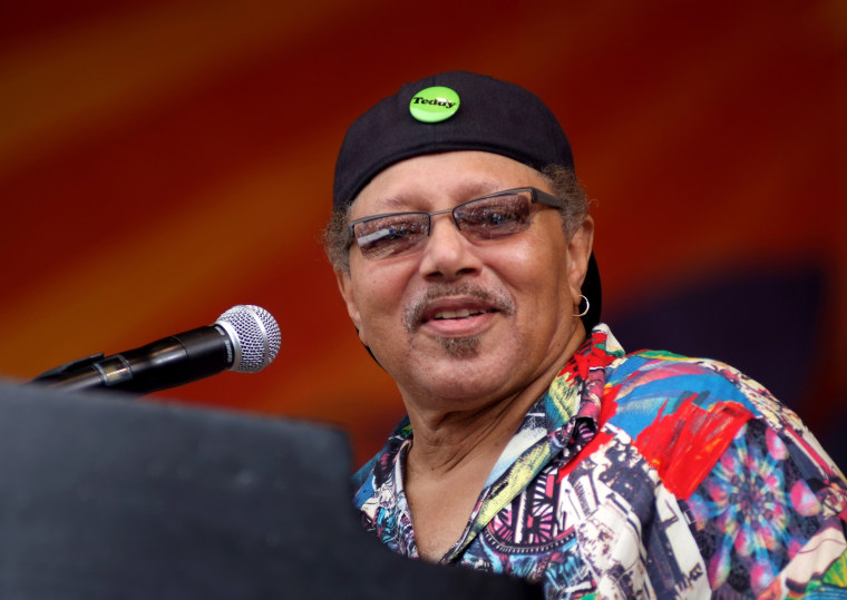 Art Neville performs at the New Orleans Jazz Festival