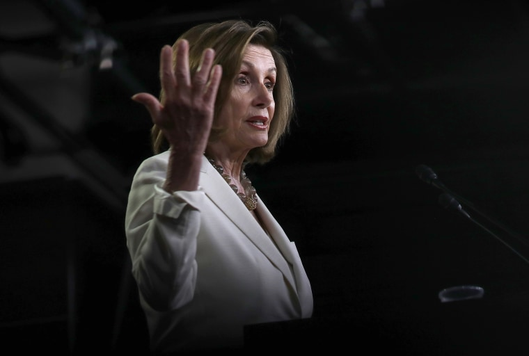 Image: Speaker Of The House Nancy Pelosi Addresses The Media In Weekly Press Conference