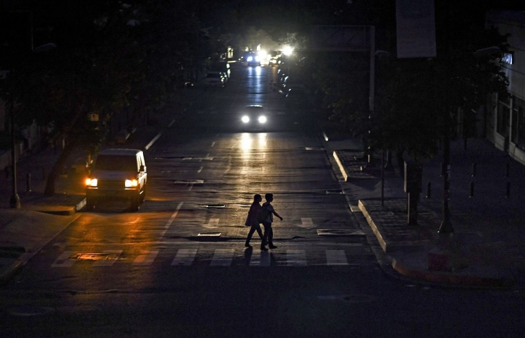 Image: VENEZUELA-CRISIS-POWER-OUTAGE