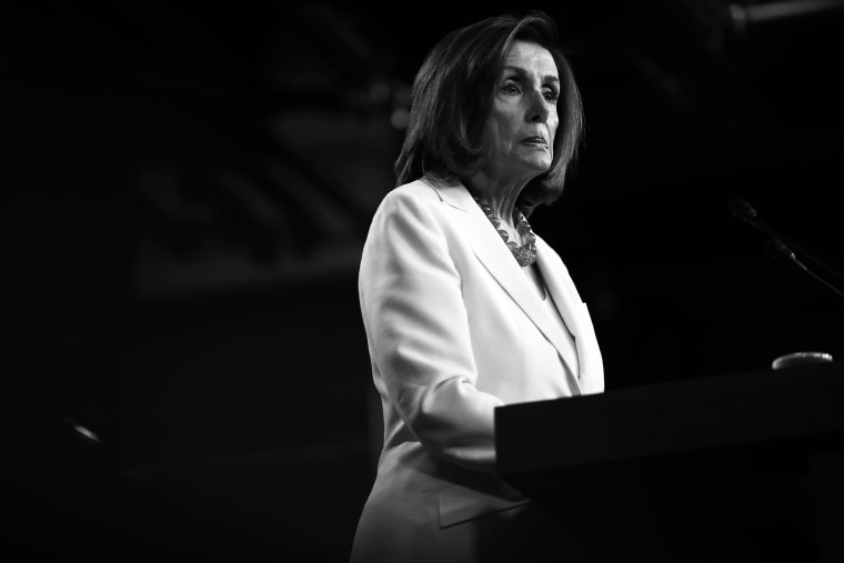 Image: Speaker of House Nancy Pelosi during a press conference at the Capitol on July 11, 2019.