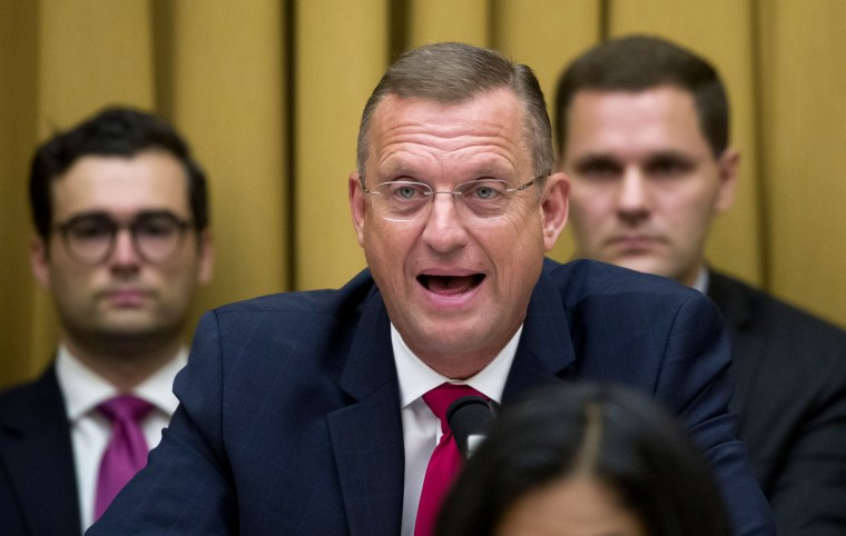 Image: Rep. Doug Collins, R-Ga., ranking member of the House Judiciary Committee, speaks as former special counsel Robert Mueller testifies before Congress on July 24, 2019.