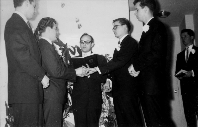 Image: The mysterious wedding photos of a gay couple were first printed in 1957 in a drug store in Philadelphia.