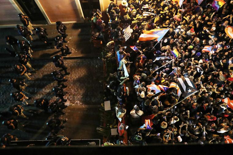 Image: Protesters Demand Resignation Of Puerto Rico's Governor Ricardo Rossello