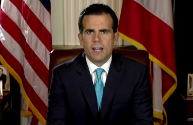 Puerto Rican Governor Ricardo Rossello announces his resignation effective August 2 via television on July 24, 2019.