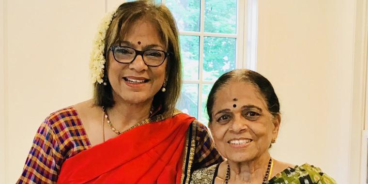 Subha Barry and her mother, Saroja Viswanathan.