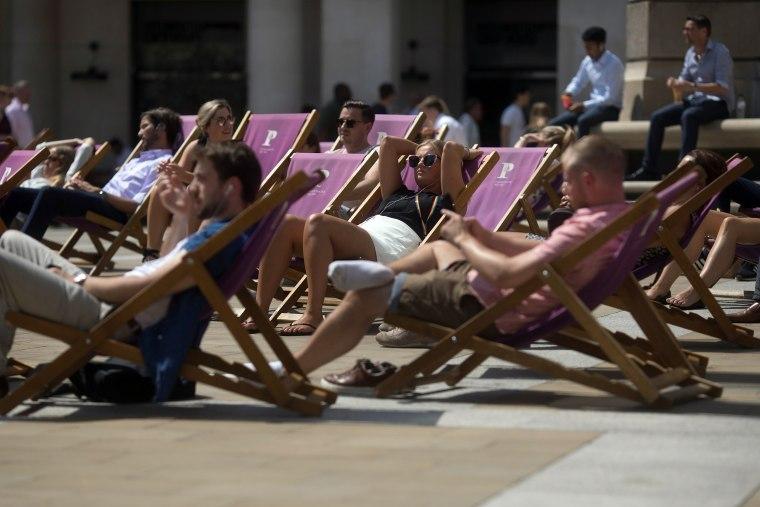 Image: London hot weather