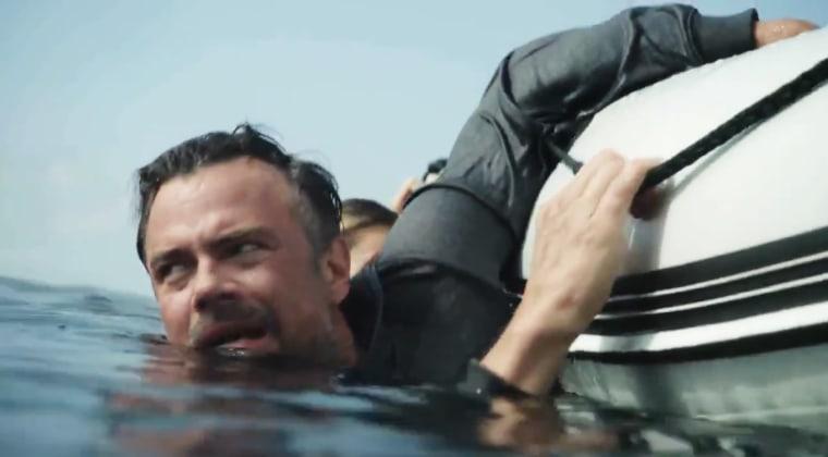 "Josh Duhamel en una escena de ""Capsized: Blood in the Water"""