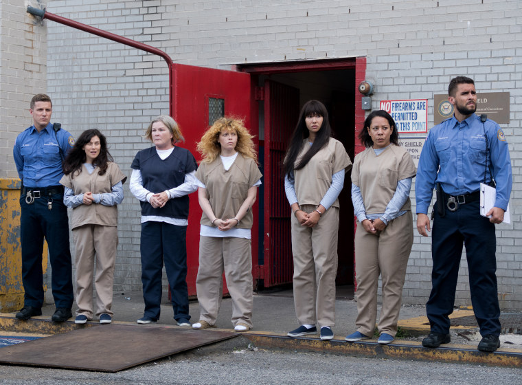 """A scene from Season 7 of """"Orange is the New Black."""""""