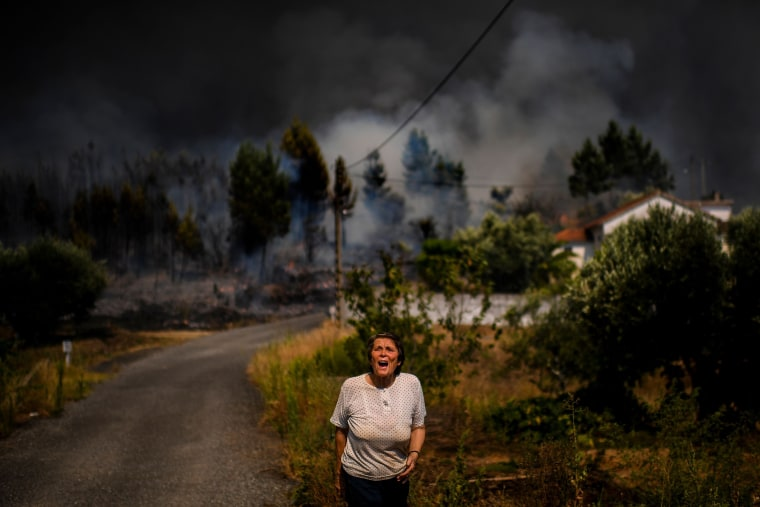 Image: TOPSHOT-PORTUGAL-WILDFIRE