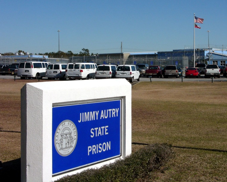 The entrance to Autry State Prison near Pelham, Ga., is seen on Wednesday, Dec. 21, 2005.