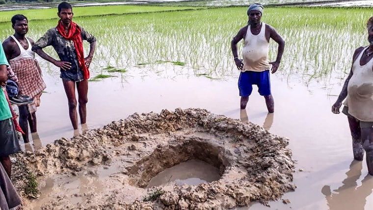Image: TOPSHOT-INDIA-METEORITE