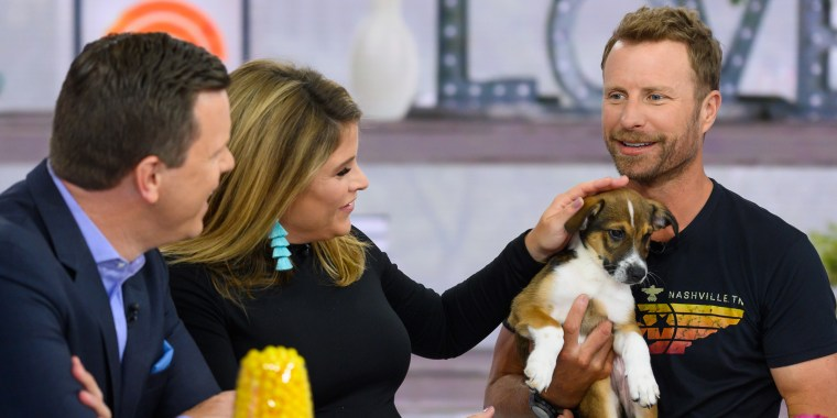 Dierks Bentley adopts a puppy live on TODAY