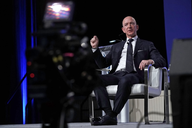 Image: Amazon CEO And Blue Origin Founder Jeff Bezos  Speaks At Air Force Association Air, Space And Cyber Conference